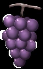 【アイテム・オブジェクト】ぶどう 葡萄 マスカット 透過素材 2パターン