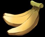 【アイテム・オブジェクト】バナナ 透過素材