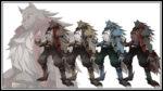 獣人 透過素材 4カラー