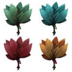 【アイテム・オブジェクト】薬草 葉っぱ 透過素材 4カラー