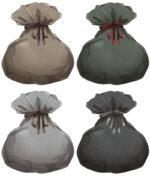 【アイテム・オブジェクト】道具袋 透過素材 4カラー