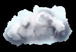 【オブジェクト】雲 透過素材 4パターン
