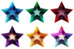 【アイテム・オブジェクト】星型ジュエル 透過素材 6カラー