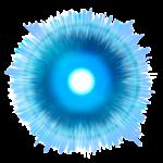 【エフェクト】集中線付き気弾 透過素材 2カラー