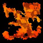 【エフェクト】炎っぽいエフェクト 透過素材 2パターン