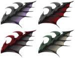 【アイテム・オブジェクト】禍々しい翼 透過素材 4カラー