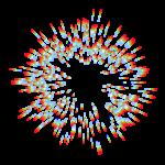 【エフェクト】スペクトル集中線 透過素材