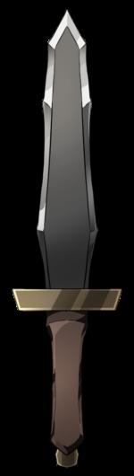 【アイテム・オブジェクト】ダガー ナイフ 透過素材 2カラー