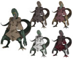 【クトゥルフ神話】ヘビ人間 蛇人間 透過素材 5カラー