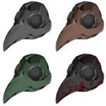 【アイテム・オブジェクト】ペストマスク 透過素材 4カラー