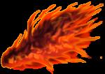 【エフェクト・オブジェクト】炎の翼 透過素材 3カラー