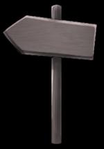 【アイテム・オブジェクト】矢印看板 透過素材 2カラー