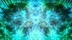 【背景】緑の左右対称背景
