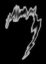 【エフェクト】黒い衝撃エフェクト 透過素材 4パターン