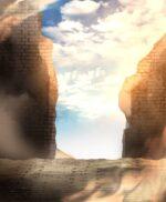 【背景】崩れた遺跡の背景