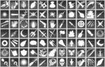 ゲーム制作向け スキル・行動アイコン 透過素材 78パターン