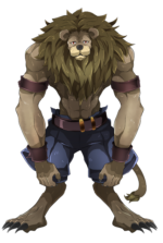 臆病なライオン 透過素材
