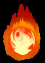 【オブジェクト・エフェクト】人魂 火球 透過素材 4カラー