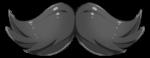 【アイテム・オブジェクト】付け髭 ヒゲ 透過素材 2カラー