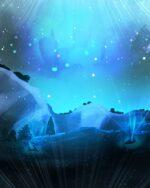 【背景】星の降る大地の背景 立ち絵合成向け