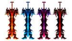 【アイテム・オブジェクト】炎の大剣 レーヴァテイン 透過素材 4パターン