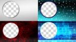 【背景・フレーム】丸枠フレーム 透過素材 20パターン
