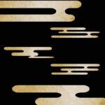 【オブジェクト・エフェクト】金箔和風雲 透過素材 6パターン