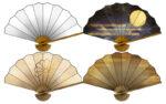 【アイテム・オブジェクト】扇子 団扇 透過素材 4パターン