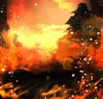 【背景】炎の城下町の背景