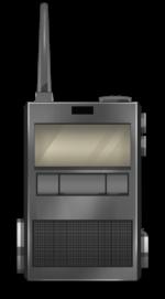 【アイテム・オブジェクト】トランシーバー 無線機 透過素材 3カラー
