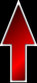 【オブジェクト】フチ付き矢印 透過素材 3パターン
