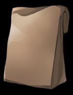 【アイテム・オブジェクト】紙袋 角底袋 透過素材 2カラー