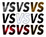 【オブジェクト】「VS」の文字 透過素材 9パターン