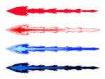 【エフェクト】ビーム レーザー 光線 透過素材 4パターン