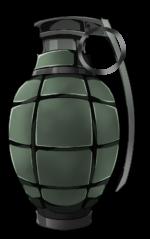 【アイテム・オブジェクト】手榴弾 爆弾 グレネード 透過素材 3カラー